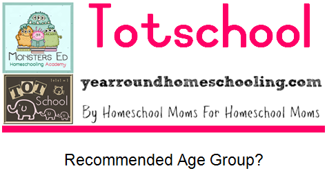 I started totschooling my younger three when they were about 10 months old and were able to sit for about 5 minutes and focus on an activity. Totschool is not formal schooling, its all about structured and directed play. Children learn best through play and this is a great way to get them involved in our daily schooling. Click on this image to read the full post over at Year Round Homeschooling!