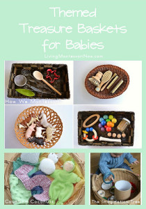 montessori Themed Treasure Baskets for Babies