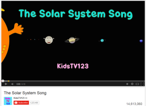 the solar system song kidstv123 - photo #2