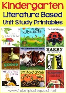 Kindergarten-Literature-Unit-Printables