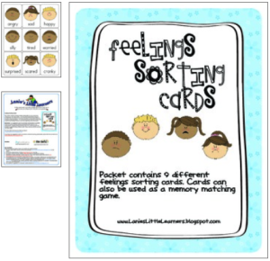 picture about Feelings Cards Printable referred to as No cost Viewpoint and Sensation Printables