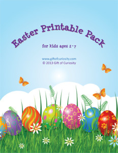 Easter printable pack cover