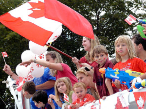 The Canada Day Parade making its way along Westminster Avenue in Montreal West  ©Wikipedia