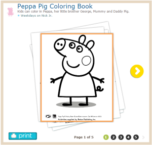 Kids Can Color In Peppa Her Little Brother George Mummy And Daddy Pig Printables From Treehouse