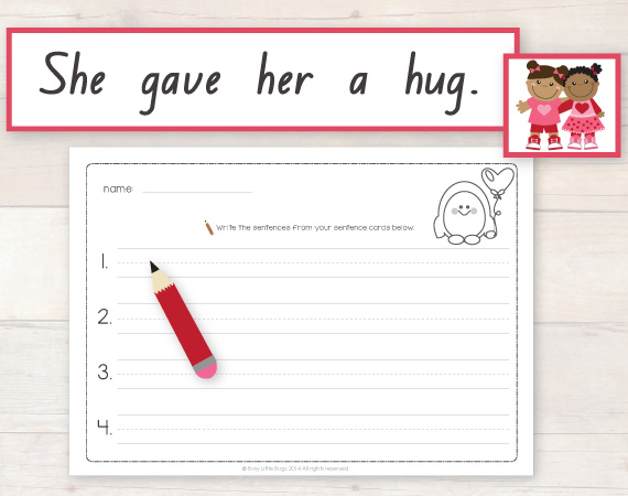 This Is A Fun Activity Where Children Match Each Sentence Strip To The Picture Card Then Write On Recording Sheet