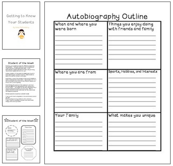 writing an autobiography middle school