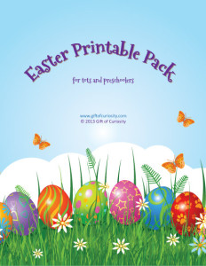 Easter printable pack TOC