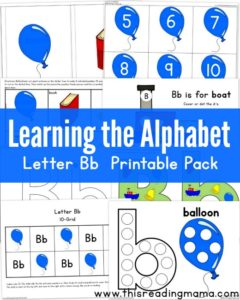 Letter B Resources