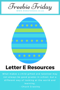 Letter E Resources