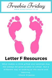 Letter F Resources