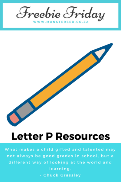 Letter P Resources