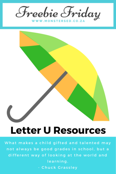 Letter U Resources
