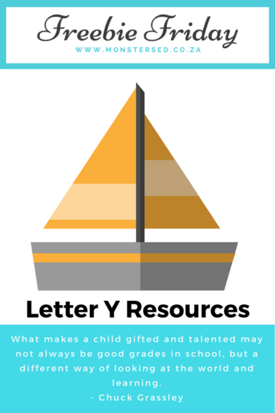 Letter Y Resources