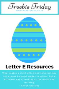 Letter E Resources