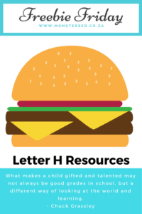 Letter H Resources