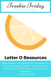 Letter O Resources
