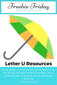 Letter U Resources