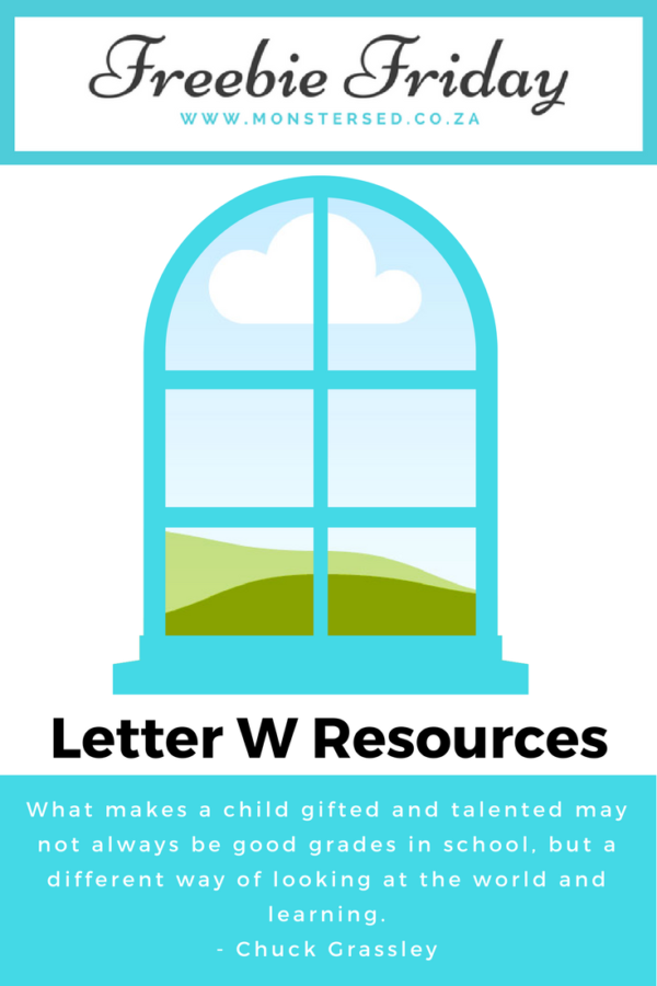 Freebie Friday ~ Letter W Resources - Monsters Ed