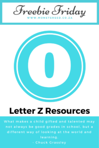 Letter Z Resources