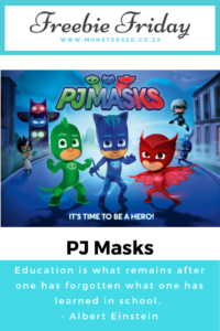 Freebie Friday - PJ Masks