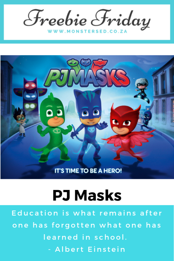 Freebie Friday - PJ Masks
