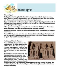 Freebie Friday - ancient egypt