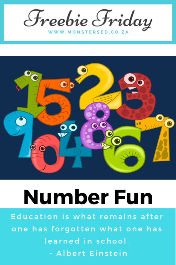 Freebie Friday - number fun